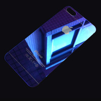 Blue iPhone 5s 6 6s Plus Toughened Glass Screen Protector Gift-170