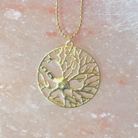 Golden Neuron Pendant