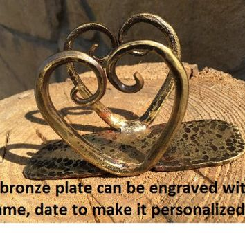 8th anniversary gift, bronze gifts, personalized bronze gift, bronze anniversary gift, 8 year gifts, custom bronze gift,engraved bronze gift