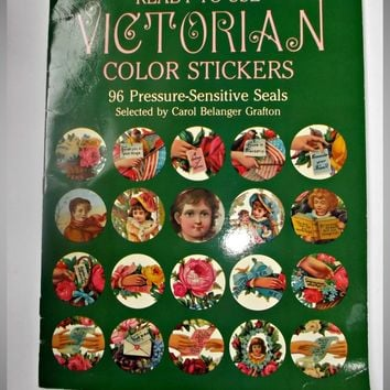 Vintage 1983 Victorian Color Stickers Booklet