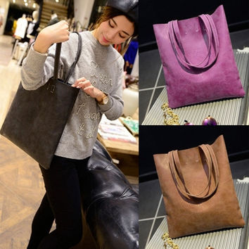 Korean Lady Women's Retro Fashion Matte Handbag Crossbody Shoulder Messenger Bag