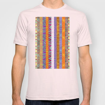 Tribal Stripes T-shirt by Pom Graphic Design