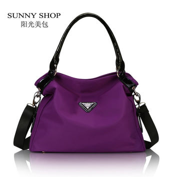 SUNNY SHOP European and American fashion young Oxford Simple style  shoulder bag   waterproof messenger bag Fashion Mother Bag