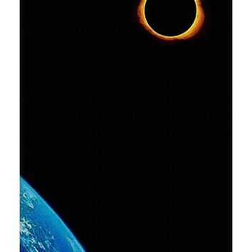Solar Eclipse From The Space By Adam Asar 2 - Yoga Mat