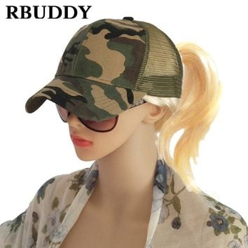 Trendy Winter Jacket RBUDDY Ponytail Baseball Caps Hip Pop Camouflage Messy Bun Snapback Summer Trucker Dad Hat for Women Men Gift Mesh Outdoor Hat AT_92_12