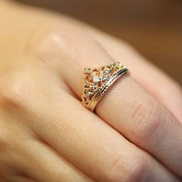 fashion rhinestone crown ring from Fashion Accessories Store