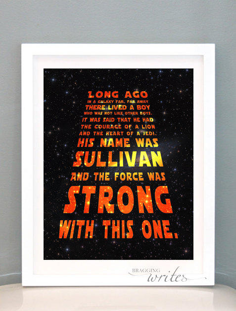 Star wars custom nursery wall art from braggingwrites on etsy for Star wars kids room decor