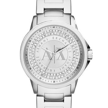 Silver Pave Watch - Watches - Womens - Armani Exchange