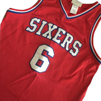 Vintage throwback Philadelphia Sixer Basketball Jersey Julius Erving Hardwood classic 80s Clothing Men rare Find