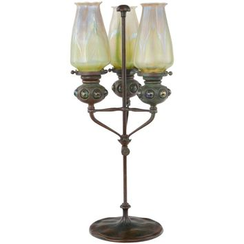 Art Nouveau Telescopic Candlestick by Tiffany Studios