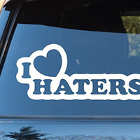 I Heart Haters Car Window Windshield Lettering Decal Sticker Decals Stickers ...