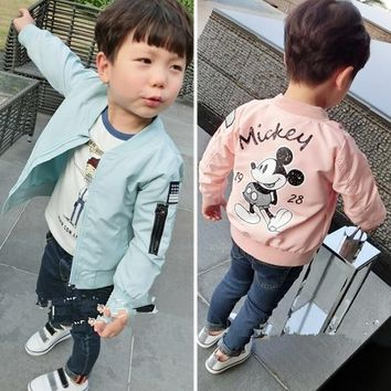 Trendy Jacket New Arrival Clothing For Baby Girls Boys Coat Cartoon Printed Flight jacket Autumn Kids Outerwear Children Clothes AT_94_13