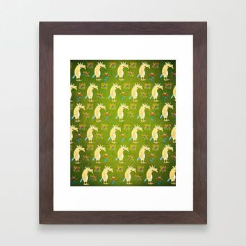 Flowers & Unicorns Framed Art Print by That's So Unicorny