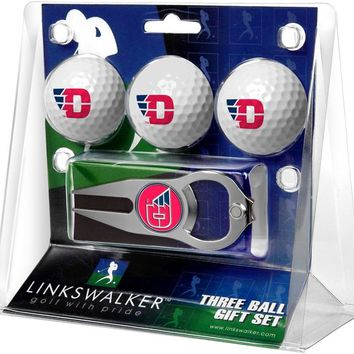 Dayton Flyers 3 Ball Gift Pack with Hat Trick Divot Tool