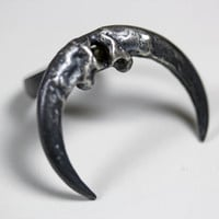 naja ring owl talon crescent by BloodMilk on Etsy