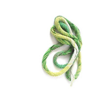 SUMMER SALE: 20% OFF, Mercerized Cotton Greens Spiral Skinny Scarf, Crochet Necklace, Spring, Summer, Fall, Fashion, Womens, Accessories