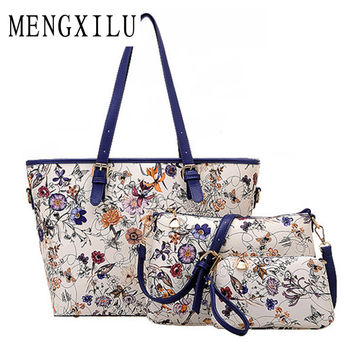 3 Sets Flowe Bag Women Ethnic Handbags National Flowers Messenger Bags Summer Composite Spain Bags Woman Neverfull Chinese Bag