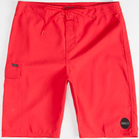 O'neill Santa Cruz Solid Mens Boardshorts Red  In Sizes