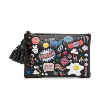 Georgiana Clutch with Allover Stickers
