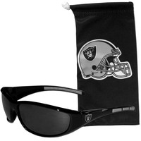 NFL - Oakland Raiders Sunglass and Bag Set