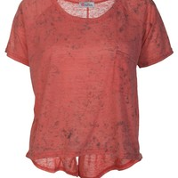 Rust Burn Out T-Shirt - Womens Clothing Sale, Womens Fashion, Cheap Clothes Online | Miss Rebel