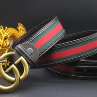 Gucci Belt Men Women Fashion Belts 504144