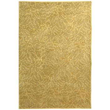 MARTHA STEWART RUGS MSR8712E-4 Sakura Turtle and Amber Rectangular: 4 Ft. x 6 Ft. Rug - (In Rectangular)