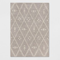 Gray/White Criss Cross Woven Area Rug - Project 62™