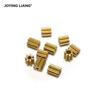 Metal Gear 71A 0.3M Copper Gear 7T Toy Coreless Motor Parts 1mm Tight Shaft Match 7 Teeth Pinions (10pcs/lot)