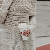 Double Dare Off-Shoulder Sweater [ TWO COLORS ]