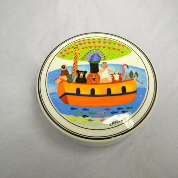 Vintage Villeroy and Boch trinket box pin box by FeliceSereno