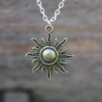 Midsummer Sun necklace, Summer Solstice Pagan God, Sun God pendant, pagan jewellery, wiccan necklace, ritual jewellery, pagan gifts