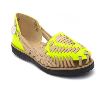 Women s Neon Yellow Woven Leather from IX Style #2: x354 q80