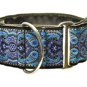 Purple and Blue Jacquard Martingale Collar - 2 Inch