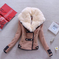 New women's cultivate one's morality short coat jacket with collars