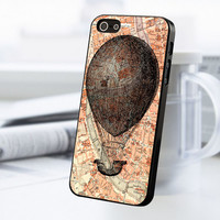 World Map Hot Air Balloon iPhone 5 Or 5S Case