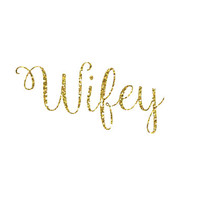 DIY Wifey Iron-On Vinyl Heat Transfer - Glitter Iron-On - 5 Colors -  DIY Bridal Shirt - Glitter Bride Decal - DIY Bridal Shower Shirt