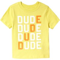 """Old Navy """"Dude"""" Graphic Tees For Baby"""