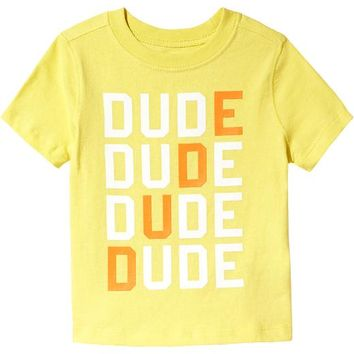 "Old Navy ""Dude"" Graphic Tees For Baby"