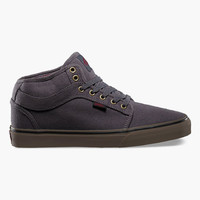 Vans Chukka Midtop Mens Shoes Charcoal  In Sizes