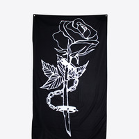 "CHAINED ROSE TAPESTRY 36"" x 60"""