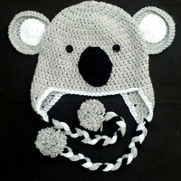 Koala Ear Flap Hat