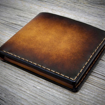 Mens Wallet with Coin Pocket. Handmade Italian Leather Wallet for men. Coin Purse Bifold Wallet. Real Leather Wallets. Genuine Leather.