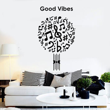 Vinyl Wall Decal Good Vibes Music Musical Art Decor Stickers Unique Gift (ig4639)