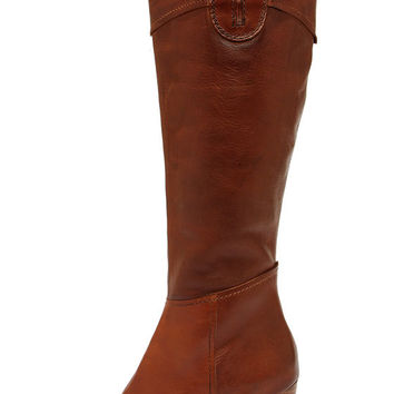 Diba True Connect Tion Tan Leather Knee High Heel Boots