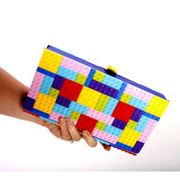 Lego Clutch- Colorful - Chick Lit Designs