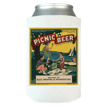 Picnic Beer - Beer Can Wrap, Insulated Can Wrap, Beer Gifts, Gift Idea For Beer Lovers, Vintage Beer Label, Beer Art   Dad Gifts   Man Gifts
