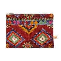 "S Seema Z ""TAPESTRY ETHNIC"" Red Pattern Everything Bag"