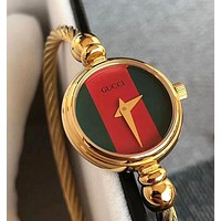 """GUCCI"" Stylish Women Retro Chic Movement Quartz Watch Wristwatch"