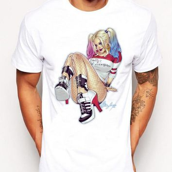 2016 Summer HARLEY QUINN Printed T-Shirt Men's Funny Geek Novelty Hipster Popular Cool T shirt Tops Dry Fit Tees For Men Women